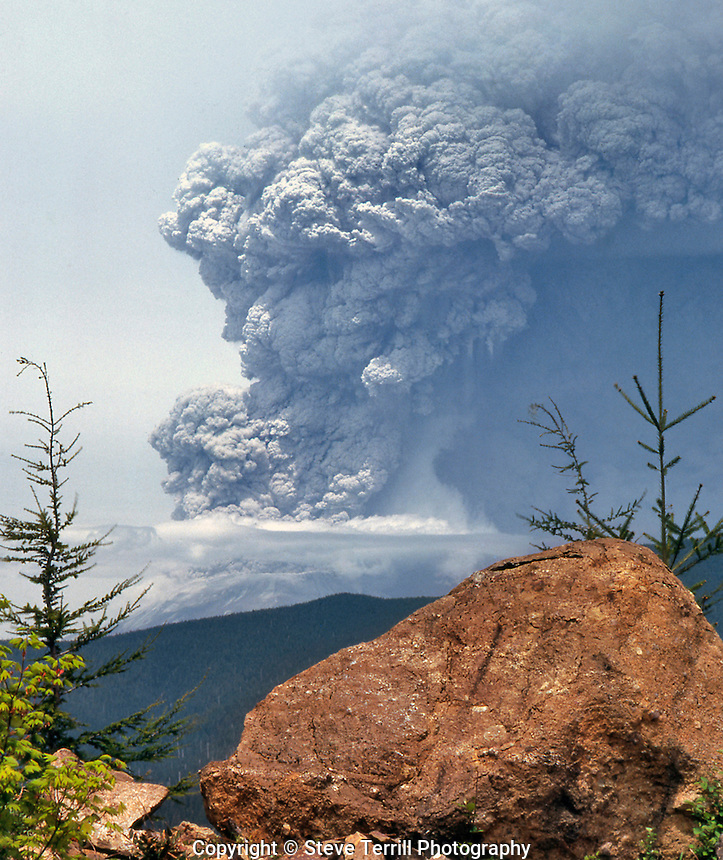 Mt. St. Helens viewed from Wt Point peak on May 18th 1980