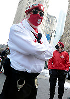 NEW YORK, NEW YORK- FEBRUARY 27, 2021: The Guardian Angels  attend the American Asian Federation's Anti-Asian Hate Rally held at Foley Square/Federal Plaza in the lower Manhattan section of New York City on February 27, 2021.  Photo Credit: mpi43/MediaPunclh