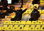 03.03.2021 Livingston v Rangers: Steven Gerrard in the stands after being sent off