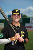 Bristol Pirates Brendt Citta (17) poses for a photo before a game against the Elizabethton Twins on July 29, 2018 at Joe O'Brien Field in Elizabethton, Tennessee.  Bristol defeated Elizabethton 7-4.  (Mike Janes/Four Seam Images)