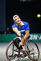 Rotterdam, The Netherlands, 6 march  2021, ABNAMRO World Tennis Tournament, Ahoy,  <br /> Semi final wheelchair: Gustavo Fernandez (ARG). Photo: www.tennisimages.com/