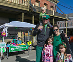The Bender family during the 28th annual Rocky Mountain Oyster Fry and St. Patrick's Day Parade in Virginia City, Nevada on Saturday March 16, 2019.