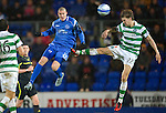 St Johnstone v Celtic..27.10.10  .Marcus Haber on the receiving end from Glenn Loovens.Picture by Graeme Hart..Copyright Perthshire Picture Agency.Tel: 01738 623350  Mobile: 07990 594431