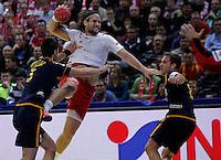 during men`s EHF EURO 2012 championship semifinal handball game between Denmark and Spain in Belgrade, Serbia, Friday, January 27, 2011.  (photo: Pedja Milosavljevic / thepedja@gmail.com / +381641260959)