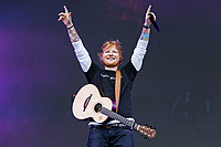 Pictured: Ed Sheeran performs on stage. Saturday 26 May 2018<br /> Re: BBC Radio 1 Biggest Weekend at Singleton Park in Swansea, Wales, UK.