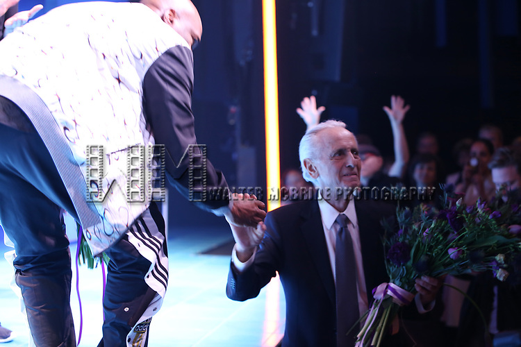 Kenny Leon and Mark Medoff during the Broadway opening night performance Curtain Call for 'Children of a Lesser God' at Studio 54 Theatre on April 11, 2018 in New York City.
