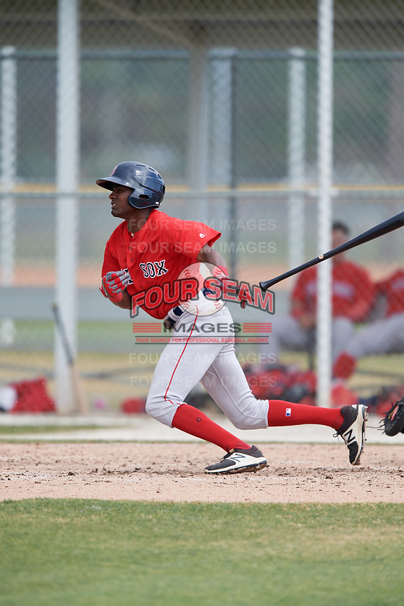 Boston Red Sox Alexander Martinez (12) during a Minor League Spring Training game against the Baltimore Orioles on March 20, 2018 at Buck O'Neil Complex in Sarasota, Florida.  (Mike Janes/Four Seam Images)