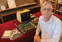 BNPS.co.uk (01202 558833)<br /> Pic: RRAuction/BNPS<br /> <br /> Pictured: The Apple-1 computer  and Roger Wagner.<br /> <br /> A fully-working Apple-1 computer has sold for £273,000.<br /> <br /> The pioneering machine is one of the 200 'motherboards' Apple founder Steve Jobs and his associate Steve Wozniak designed in 1976.<br />  <br /> Around 70 Apple-1 computers are known to exist today and of those less than 10 still work.