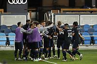 SAN JOSE, CA - OCTOBER 28: San Jose Earthquakes celebrate during a game between Real Salt Lake and San Jose Earthquakes at Earthquakes Stadium on October 28, 2020 in San Jose, California.