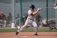 San Francisco Giants third baseman Shane Matheny (17) at bat during a Minor League Spring Training game against the Cleveland Indians at the San Francisco Giants Training Complex on March 14, 2018 in Scottsdale, Arizona. (Zachary Lucy/Four Seam Images)