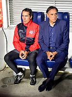IBAGUE- COLOMBIA, 03-04-2019: Miguel Ángel Portugal, técnico de Jorge Wilstermann (BOL), durante partido de la fase de grupos, grupo G, fecha 3, entre Deportes Tolima (COL) y Jorge Wilstermann (BOL), por la Copa Conmebol Libertadores 2019, en el Estadio Manuel Murillo Toro de la ciudad de Ibague. / Miguel Ángel Portugal, coach of Jorge Wilstermann (BOL), during a match of the groups phase, group G, 3rd date, beween Deportes Tolima (COL) and Jorge Wilstermann (BOL), for the Conmebol Libertadores Cup 2019, at the Manuel Murillo Toro Stadium, in Ibague city.  Photo: VizzorImage / Juan Carlos Escobar / Cont.