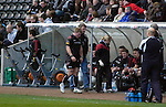 Magners League - Ospreys Richard Hibbard leaves the field with an injury as they take on Connacht  at the Liberty Stadium in Swansea.