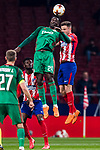 Eder Lopes (L) of FC Lokomotiv Moscow fights for the ball with Saul Niguez Esclapez of Atletico de Madrid during the UEFA Europa League 2017-18 Round of 16 (1st leg) match between Atletico de Madrid and FC Lokomotiv Moscow at Wanda Metropolitano  on March 08 2018 in Madrid, Spain. Photo by Diego Souto / Power Sport Images