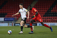Ian Henderson of Salford City and Ousseynou Cisse of Leyton Orient during Leyton Orient vs Salford City, Sky Bet EFL League 2 Football at The Breyer Group Stadium on 2nd January 2021