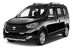 2015 Dacia Dokker Stepway 5 Door Minimpv Angular Front stock photos of front three quarter view