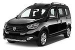 2015 Dacia Dokker Stepway 5 Door Minimpv Angular Front stock photos of front three quarter view