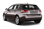 Car pictures of rear three quarter view of 2015 Peugeot 308 Feline 5 Door Hatchback Angular Rear