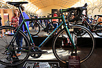 Meteor Works stand at Bespoked 2018 UK handmade bicycle show held at Brunel's Old Station & Engine Shed, Bristol, England. 21st April 2018.<br /> Picture: Eoin Clarke | Cyclefile<br /> <br /> <br /> All photos usage must carry mandatory copyright credit (© Cyclefile | Eoin Clarke)