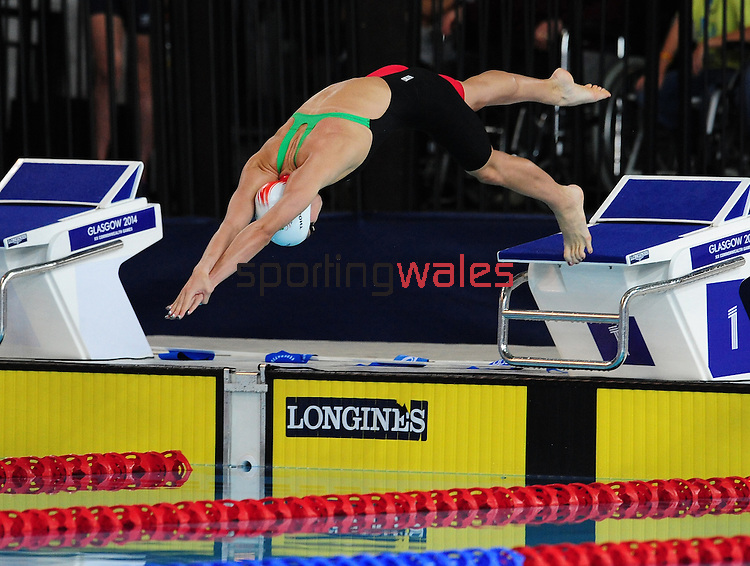 Wales' Alys Thomas competes in the women's 50m butterfly semi-final<br /> <br /> Photographer Chris Vaughan/Sportingwales<br /> <br /> 20th Commonwealth Games - Day 3 - Saturday 26th July 2014 - Swimming - Tollcross International Swimming Centre - Glasgow - UK