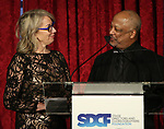 "Laura Penn and Sheldon Epps during The ""Mr. Abbott"" Award 2019 Presentation at The Metropolitan Club on 3/25/2019 in New York City."