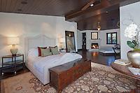 Stock photo of luxurious master bedroom
