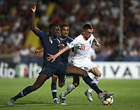 Football: Uefa under 21 Championship 2019, England - France, Dino Manuzzi stadium Cesena Italy on June18, 2019.<br /> France's Ibrahima Konaté (l) in action with England's Phil Foden (r) during the Uefa under 21 Championship 2019 football match between England and France at Dino Manuzzi stadium in Cesena, Italy on June18, 2019.<br /> UPDATE IMAGES PRESS/Isabella Bonotto