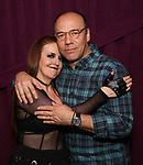 """Jennifer Simard and Danny Burstein backstage after """"Stigma"""" on September 9, 2018 at the Green Room 42 in New York City."""