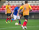 Partick Thistle v St Johnstone....25.10.14   SPFL<br /> Lee Croft gets between Abdul Osman and Conrad Balatoni<br /> Picture by Graeme Hart.<br /> Copyright Perthshire Picture Agency<br /> Tel: 01738 623350  Mobile: 07990 594431