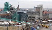 Stadtansichten 2009 - Luftaufnahme Augustusplatz aus 11. Etage des Europahaus - blick auf Paulinum, Krochhochhaus Nikolaikirche - im Vordergrund das Dach des Gewandhauses  . Foto: Norman Rembarz..Norman Rembarz , ( ASV-Autorennummer 41043728 ), Holbeinstr. 14, 04229 Leipzig, Tel.: 01794887569, Hypovereinsbank: BLZ: 86020086, KN: 357889472, St.Nr.: 231/261/06432 - Jegliche kommerzielle Nutzung ist honorar- und mehrwertsteuerpflichtig! Persönlichkeitsrechte sind zu wahren. Es wird keine Haftung übernommen bei Verletzung von Rechten Dritter. Autoren-Nennung gem. §13 UrhGes. wird verlangt. Weitergabe an Dritte nur nach  vorheriger Absprache..