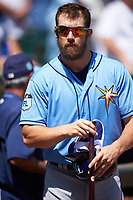 Tampa Bay Rays right fielder Steven Souza Jr. (20) before a Spring Training game against the Pittsburgh Pirates on March 10, 2017 at LECOM Park in Bradenton, Florida.  Pittsburgh defeated New York 4-1.  (Mike Janes/Four Seam Images)