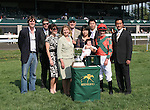 15 April 2010.  Check the Label and jockey Julien Leparoux win the 22nd running of the Appalachian (GRIII) for owner Brereton C. Jones, and trainer Graham Motion.