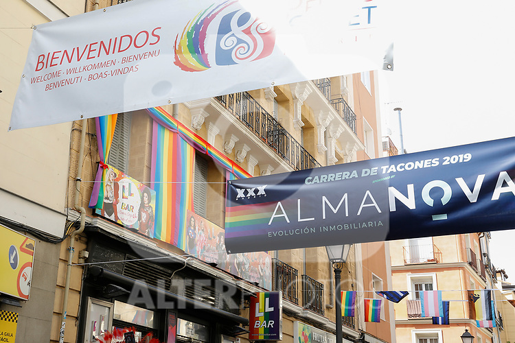 Resources of the lgtb pride party of Madrid. July 4, 2019. (ALTERPHOTOS/JOHANA HERNANDEZ)