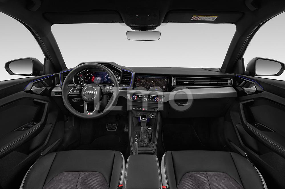 Straight dashboard view of 2019 Audi A1-Sportback S-Line 5 Door Hatchback Dashboard