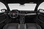 Stock photo of straight dashboard view of 2019 Audi A1-Sportback S-Line 5 Door Hatchback Dashboard
