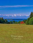 Red Barn, Lopez Island, San Juan Islands, Strait of Juan de Fuca, Olympic National Park; Washington