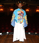 """T. Oliver Reid during the Actors' Equity Legacy Robe Ceremony honoring T. Oliver Reid for  """"Hadestown"""" at the Walter Kerr Theatre on April 17, 2019  in New York City."""