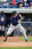 Cedar Rapids Kernels outfielder Tanner English (2) squares to bunt during a game against the West Michigan Whitecaps on June 7, 2015 at Fifth Third Ballpark in Comstock Park, Michigan.  West Michigan defeated Cedar Rapids 6-2.  (Mike Janes/Four Seam Images)