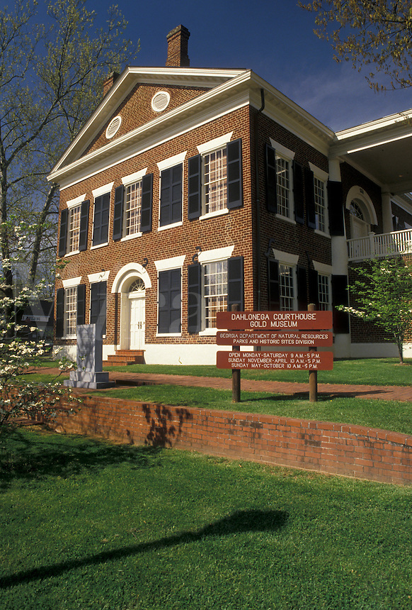 AJ4099, Dahlonega, gold mining town, Georgia, Dahlonega Gold Museum State Historic Site in Dahlonega in the state of Georgia.
