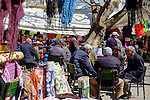 Old men chatting in the markets of Selcuk during Stage 7 of the 2015 Presidential Tour of Turkey running 166km from Selcuk to Izmir. 2nd May 2015.<br /> Photo: Tour of Turkey/Steve Thomas/www.newsfile.ie
