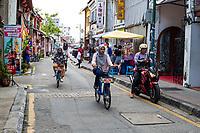 Armenian Street Street Scene, George Town, Penang, Malaysia