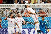 SARANSK - RUSIA, 25-06-2018: Omid EBRAHIMI, Saeid EZATOLAHI, jugadores de RI de Irán en acción durante partido de la primera fase, Grupo B, entre RI de Irán y Portugal por la Copa Mundial de la FIFA Rusia 2018 jugado en el estadio Mordovia Arena en Saransk, Rusia. / Saeid EZATOLAHI, Omid EBRAHIMI,  players of IR Iran in action during the match between IR Iran and Portugal of the first phase, Group B, for the FIFA World Cup Russia 2018 played at Mordovia Arena stadium in Saransk, Russia. Photo: VizzorImage / Julian Medina / Cont