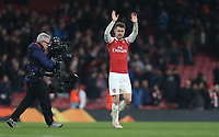 Arsenal's Aaron Ramsey at the end of the game<br /> <br /> Photographer Rob Newell/CameraSport<br /> <br /> UEFA Europa League First Leg - Arsenal v Napoli - Thursday 11th April 2019 - The Emirates - London<br />  <br /> World Copyright © 2018 CameraSport. All rights reserved. 43 Linden Ave. Countesthorpe. Leicester. England. LE8 5PG - Tel: +44 (0) 116 277 4147 - admin@camerasport.com - www.camerasport.com
