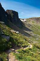 Shelter Stone Crag, the Loch Avon Basin, Cairngorm National Park, Badenoch and Speyside, Highland