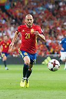 Spain's David Silva during match between Spain and Italy to clasification to World Cup 2018 at Santiago Bernabeu Stadium in Madrid, Spain September 02, 2017. (ALTERPHOTOS/Borja B.Hojas)