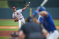 Florida State Seminoles relief pitcher Alec Byrd (31) delivers a pitch to the plate against the Duke Blue Devils in the first semifinal of the 2017 ACC Baseball Championship at Louisville Slugger Field on May 27, 2017 in Louisville, Kentucky. The Seminoles defeated the Blue Devils 5-1. (Brian Westerholt/Four Seam Images)