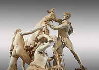 2nd century AD Roman marble sculpture known as the Farnese Bull from the Baths of Caracalla, Rome, Farnese Collection, Museum of Archaeology, Italy