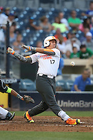 Herbert Iser (17) of the East team bats during the 2015 Perfect Game All-American Classic at Petco Park on August 16, 2015 in San Diego, California. The East squad defeated the West, 3-1. (Larry Goren/Four Seam Images)