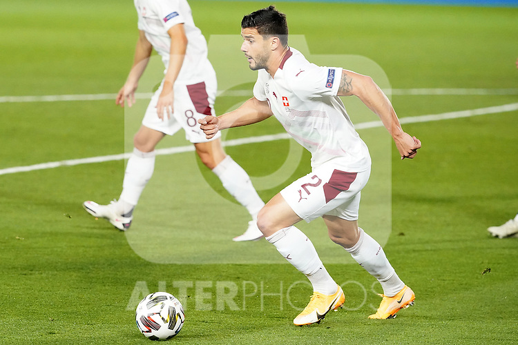 Switzerland's Loris Benito during UEFA Nations League 2020 League Phase match. October 10,2020.(ALTERPHOTOS/Acero)