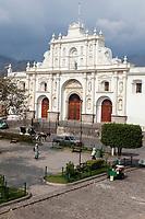 Antigua, Guatemala.  Cathedral of San Jose, Plaza de Armas.