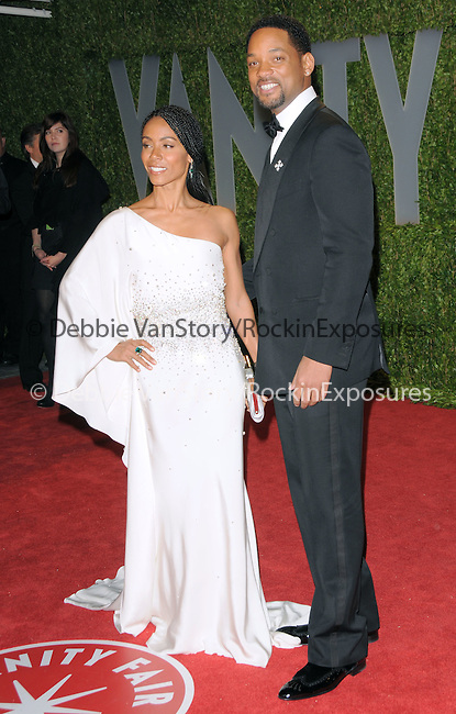 Jada Pinkett Smith & Will Smith at The 2009 Vanity Fair Oscar Party held at The Sunset Tower Hotel in West Hollywood, California on February 22,2009                                                                                      Copyright 2009 RockinExposures / NYDN